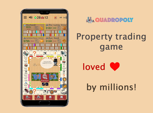 Quadropoly Best AI Board Business Trading Game apkdebit screenshots 1