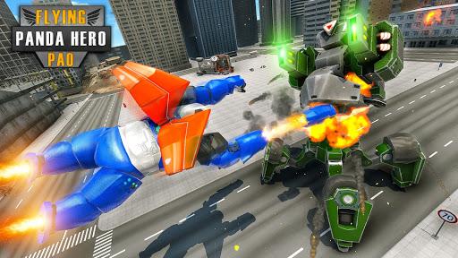 Flying Police Panda Robot Game: Robot Car Game screenshots 13