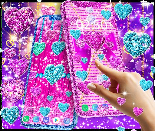 2021 Glitter hearts live wallpaper android2mod screenshots 2