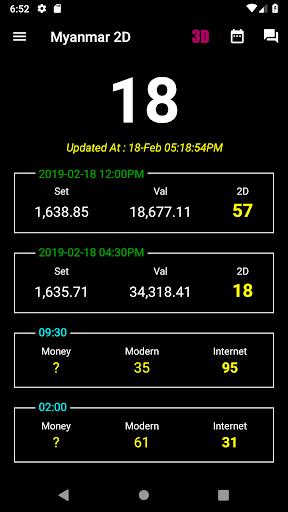 Myanmar 2D/3D Live Update - MMDroidUser 1.3.02 Screenshots 1