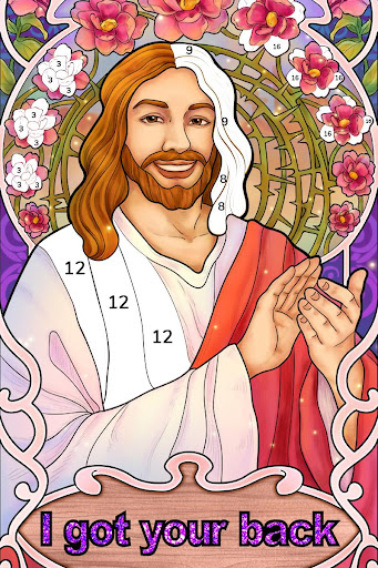 Bible Coloring - Paint by Number, Free Bible Games  screenshots 15