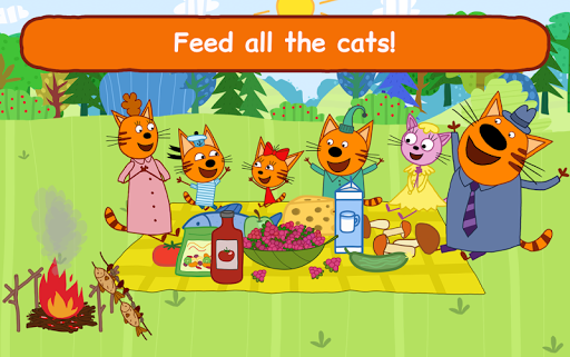 Kid-E-Cats: Picnic with Three Catsu30fbKitty Cat Games  screenshots 22