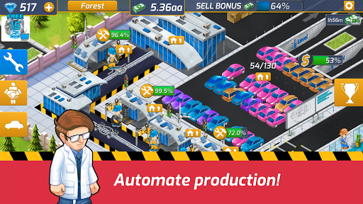 Idle Car Factory: Car Builder, Tycoon Games 2020ud83dude93 modavailable screenshots 2