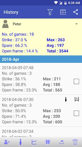 My Bowling Scoreboard android2mod screenshots 4