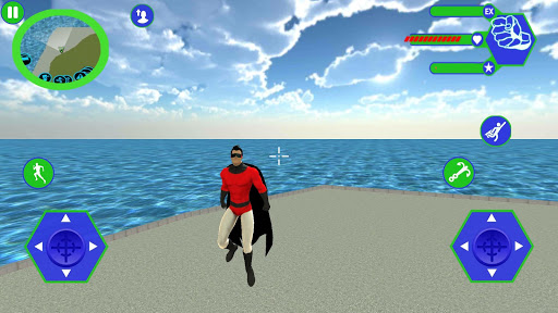 Flying SuperHero Rope Vegas Rescue apklade screenshots 1