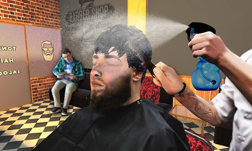 Barber Shop Hair Salon Cut Hair Cutting Games 3D apklade screenshots 1