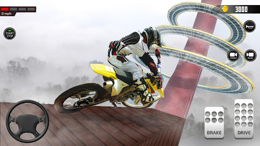 Impossible Mega Ramp Moto Bike Rider Stunts Racing  screenshots 3