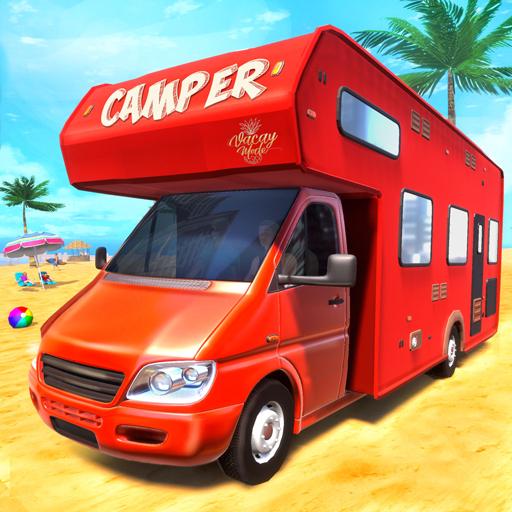 Real Camper Van Driving Simulator - Beach Resort APK