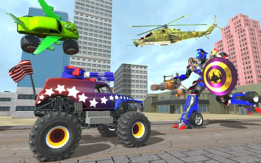 US Police Monster Truck Robot Transform apkpoly screenshots 9