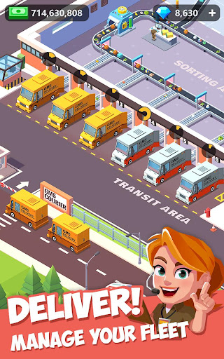 Idle Courier Tycoon - 3D Business Manager android2mod screenshots 7