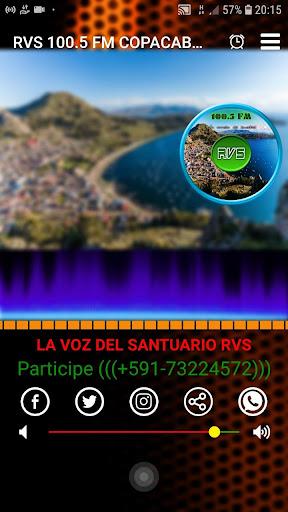 rvs 100.5 fm copacabana screenshot 2