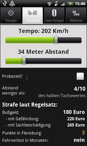 Bußgeldrechner 2.2 screenshots 2
