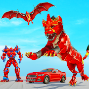 Lion Robot Car Game 2021 – Flying Bat Robot Games