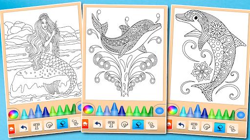 Dolphin and fish coloring book 16.3.2 screenshots 15