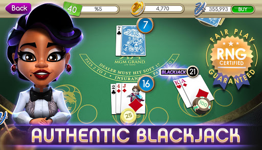 myVEGAS Blackjack 21 - Free Vegas Casino Card Game  screenshots 1