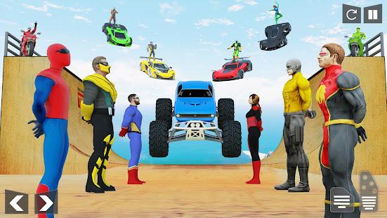 SuperHero Mega Ramp: Car Games 1.0.41 screenshots 1