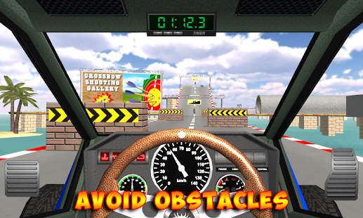 Racing stunts by car. Extreme driving Screenshot