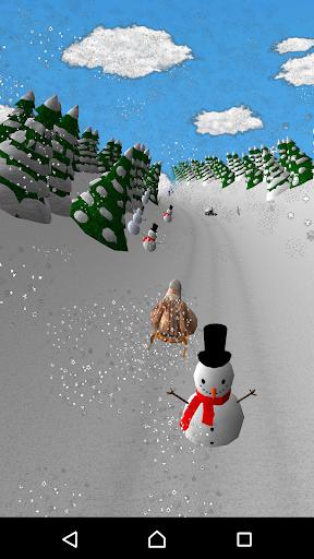 girl on a sled. snow slides. screenshot 1