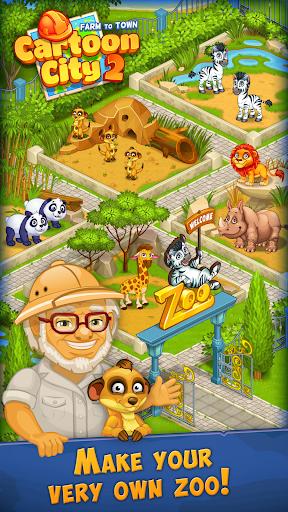 Cartoon City 2:Farm to Town.Build your home,house  screenshots 3