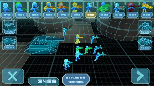 stickman simulator: neon tank warriors screenshot 1