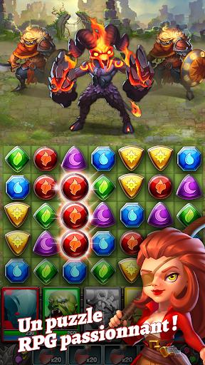 Télécharger Gratuit Dragon Strike: Puzzle RPG APK MOD (Astuce) screenshots 1