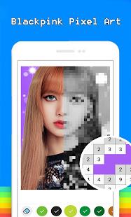 Blackpink Pixel Art Free Color By Number Coloring