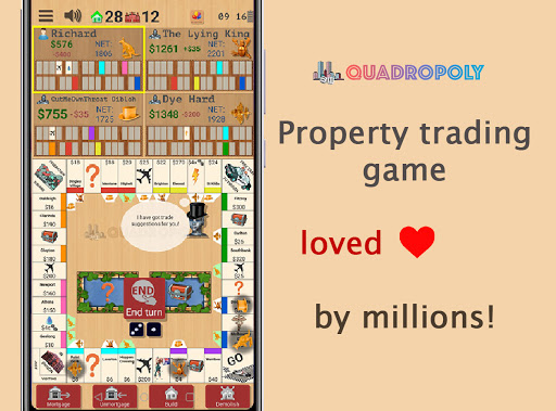 Quadropoly Best AI Board Business Trading Game android2mod screenshots 1