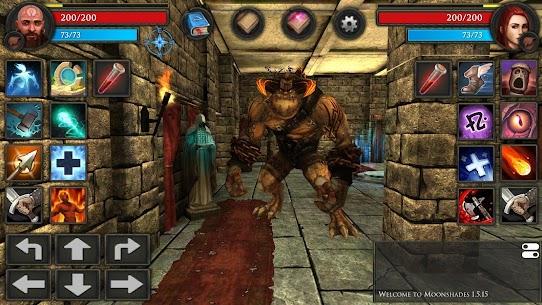 Moonshades: Dungeon Crawler – Offline RPG Quest Mod Apk Download 3