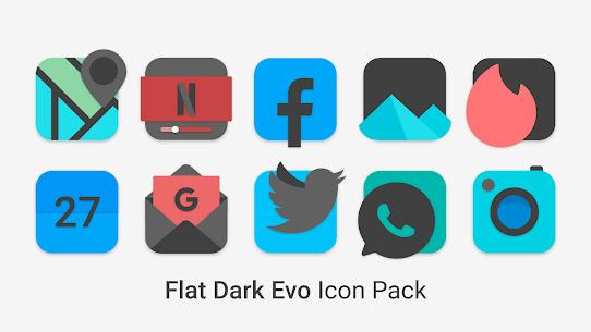 Flat Dark Evo – Icon Pack (MOD, Paid) v4.0 1