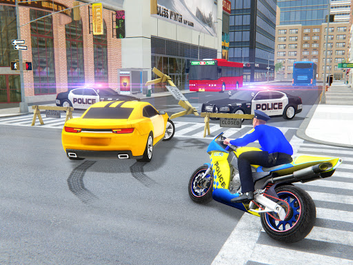 US Police Bike Gangster Crime - Bike Chase Game 3D 1.12 Screenshots 5