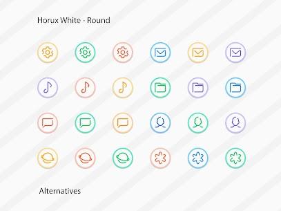 Horux White Apk- Round Icon Pack (Paid) 10