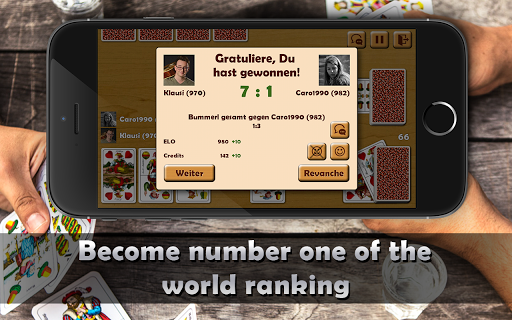 Schnapsen, 66, Sixty-Six - Free Card Game Online 2.94 screenshots 5