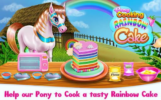 Pony Cooking Rainbow Cake screenshots 1