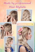 Hairstyle app: Hairstyles step by step for girls