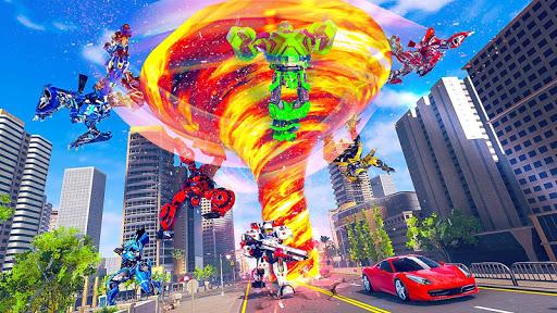 Tornado Robot Car Transform: Hurricane Robot Games 1.0.5 Screenshots 18