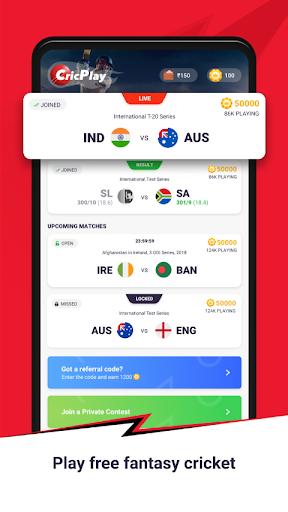 CricPlay - Free Fantasy Cricket & Virtual Betting 1.0.9.0 screenshots 1
