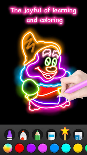 Learn to Draw Glow Cartoon  screenshots 7