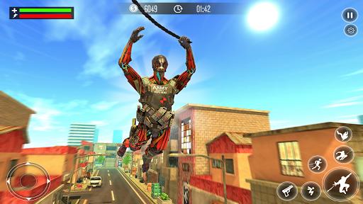Télécharger Robot Rope Hero Simulator - Army Robot Crime Game APK MOD (Astuce) screenshots 1