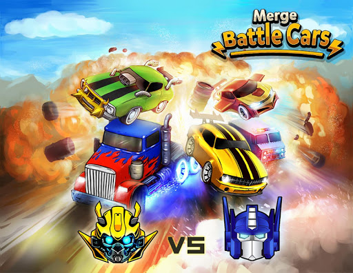 Merge Battle Car: Best Idle Clicker Tycoon game APK MOD – Pièces de Monnaie Illimitées (Astuce) screenshots hack proof 1