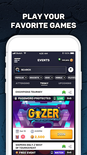 GIZER - Compete in Mobile Tournaments & Brackets  Screenshots 2