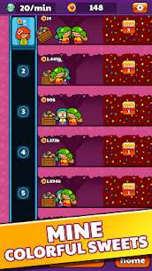 Candy Mine Idle Clicker: Crafting Game for Girls 1.0.5 Mod Android Updated 2