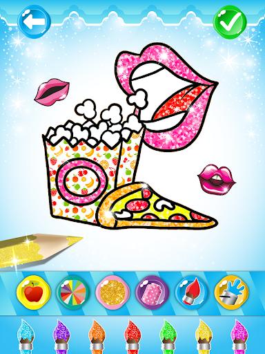 Glitter Lips with Makeup Brush Set coloring Game 2.2 APK screenshots 7