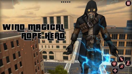 wind magical rope hero hack