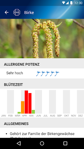 Pollenflug-Vorhersage  screenshots 5