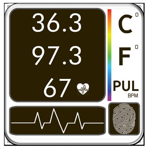 Body Temperature Fever : Thermometer Records Diary