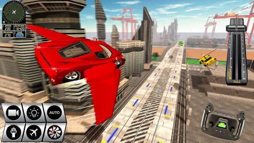 Futuristic Flying Car Racer screenshots 9