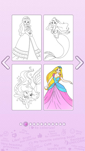 Girls Coloring Book - Color by Number for Girls  Screenshots 3