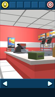 無料脱出ゲーム:ハンバーガーショップからの脱出!あそびごころのある簡単な脱出ゲームのおすすめ画像1