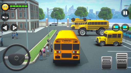 School Bus Simulator Driving: High School Drive 3D  screenshots 1