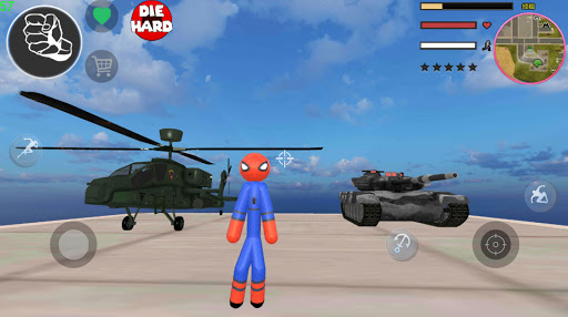 Stickman Spider Rope Hero Gangstar Crime apkpoly screenshots 3